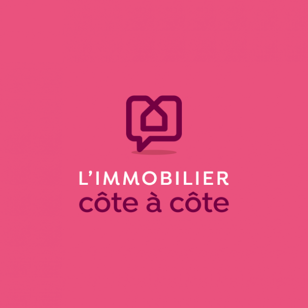 L'immobilier côte à côte | Logo et supports de communication